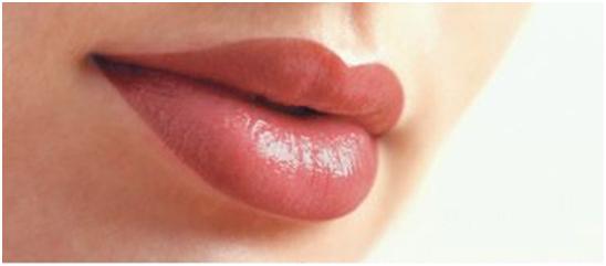 lip color and polishing